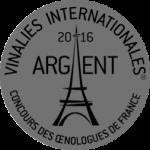 Médaille d'Argent - Vinalies internationales 2016